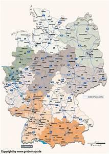 Berlin Plz Karte : deutschland postleitzahlenkarte vektor plz 2 mit autobahnen ~ One.caynefoto.club Haus und Dekorationen