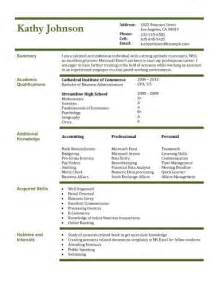 accounting student resume with no experience 13 student resume exles high school and college