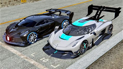 Inside look designing the bugatti bolide o gara collective. Bugatti Black Devil VGT vs Koenigsegg Jesko GTR - Drag Race 20 KM - YouTube