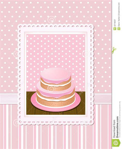 vintage cake background pink stock vector illustration