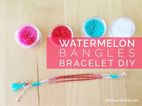 watermelon beaded bangles bracelet diy petit bout de chou