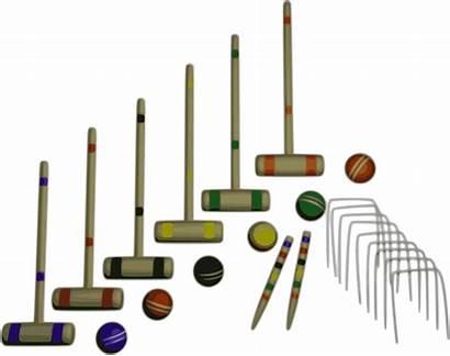 Croquet Clipart Kroket Equipment Transparent Ball Lawn