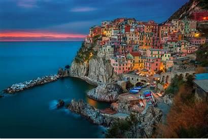 Italy Terre Cinque Manarola Landscape Desktop Wallpapers