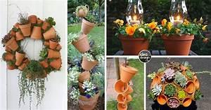 Creation Avec Des Pots De Fleurs : d corations originales avec les pots en terre cuite 20 id es ~ Melissatoandfro.com Idées de Décoration