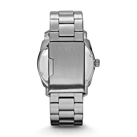fossil machine fs4773 silver machine stainless steel fossil