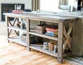 white rustic x console diy projects