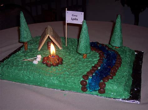 camping cake kids activities saving money home