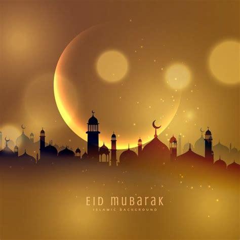 golden city background  eid mubarak
