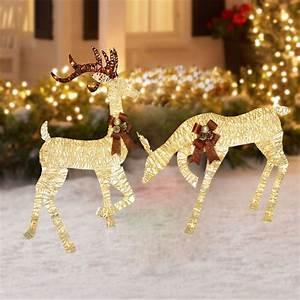 Lighted, Outdoor, Christmas, Decoration, Reindeer, Holiday, Xmas, Yard, Led, Lights, Decor