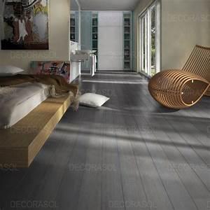 acheter parquet massif bambou brosse gris clipsable With parquet bambou gris