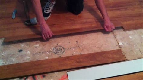 Say your bathtub leaks under the floor into the subfloor, underlayment with vapor block will help oftentimes, the installation of laminate flooring in bathrooms is frowned upon due to the risk of moisture damage. How to install laminate flooring on plywood subfloor - YouTube