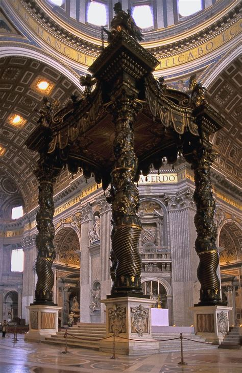Baldacchino By Bernini by Bernini Baldacchino 1624 33 History Unit 3