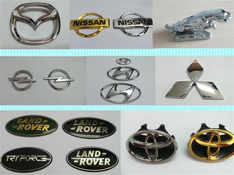 Chrome Front Hood Grill Badge Custom Car Emblems For