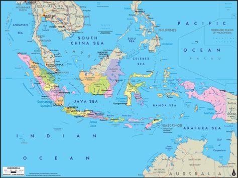 indonesia political wall map mapscom