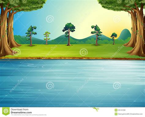 forest clipart river drawing pencil   color forest