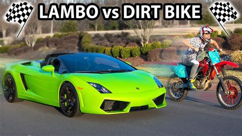 Dirt Bike Vs Lamborghini (who Will Win?) Youtube