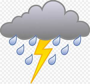 Thunderstorm Rain Clip art - Cloudy Weather Pictures For ...