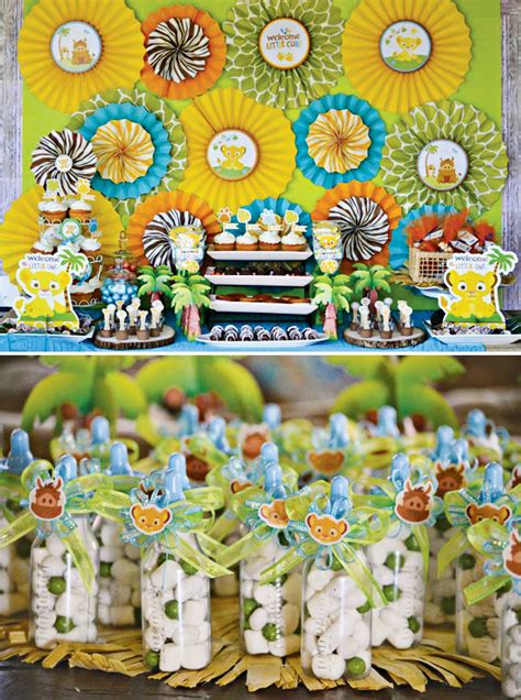 King Baby Shower Decorations - safari inspired king baby shower hostess with the