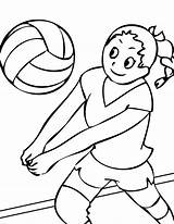 Volleyball Coloring Pages Printable Ball Sports Print sketch template