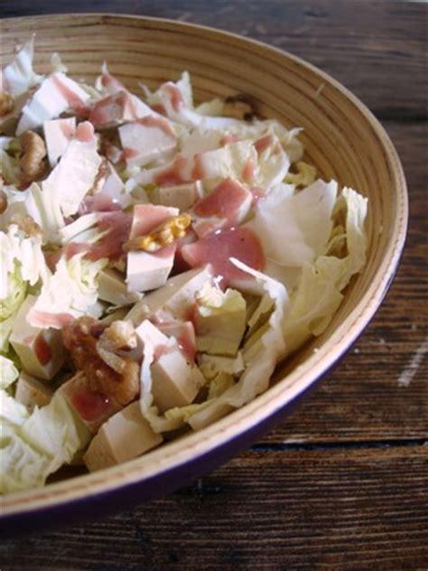 cuisine de clea salade de chou chinois au tofu fumé et noix clea cuisine