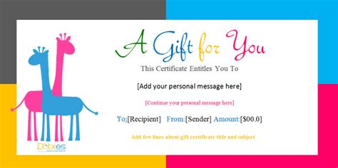 funny template  gift voucher  colorful background