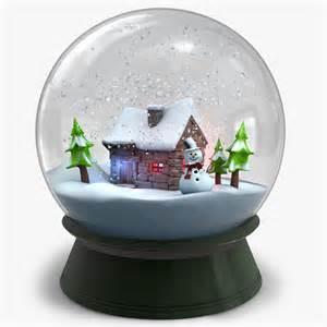 snow globe v2 3d model stock