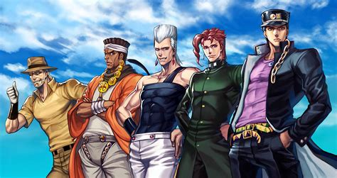 Jojo S Bizarre Adventure Dio Wallpaper I Found A High Resolution Wallpaper Of The Crusaders That I Haven 39 T Been Able To Find Anywhere