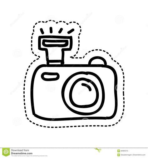 Fototoestel Kleurplaat by Pictogram De Het Fotografische Tekening Stock