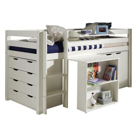 lit mezzanine avec bureau ikea lit combiné quot pino iii quot blanc