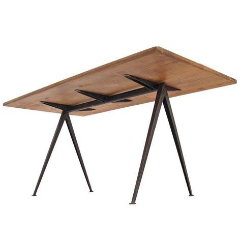 wim rietveld rustic oak top pyramid table ahrend