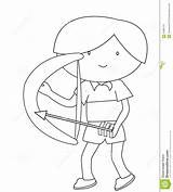 Arrow Bow Coloring Boy Pagina Pfeil Farbtonseite Bogen Junge Einer Pijl Jongen Boog Kleurende Freccia Arco Coloritura Ragazzo Dell Della sketch template