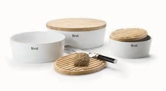 design brotkasten brottopf keramik mit holzdeckel optimale brotaufbewahrung