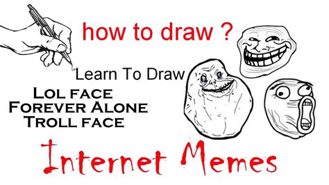 How To Draw Meme - learn to drawing steps drawing internet memes how to draw youtube