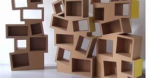Juliadesign meuble en carton etagere en carton for Meuble cube 8 cases 2 juliadesign meuble en carton etagare en carton