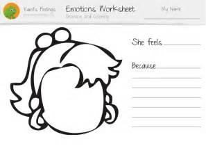 Feelings Emotions Worksheet Kids