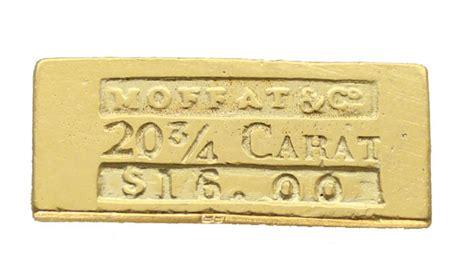 moffat  san francisco   gold ingot
