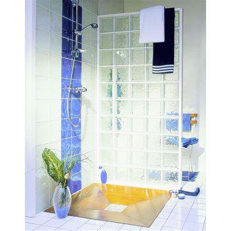 brique de verre douche mettons des briques de verre dans