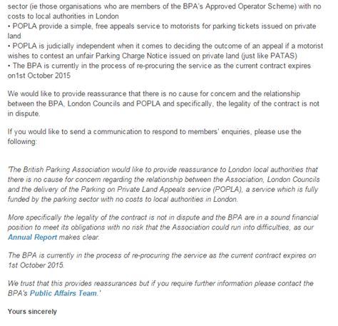 parking prankster bpa write  london councils