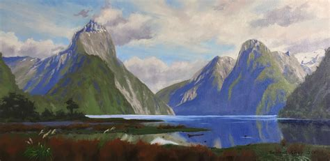 painting milford sound  zealand art