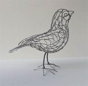 Wire Sculpture Bird B20 Right