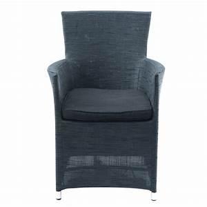 fauteuil de jardin gris anthracite ibiza maisons du monde With tapis de course avec fauteuil canapés modulables