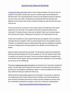 father of the bride speeches useful tips With father of the bride speech templates
