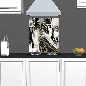 Credence Fond De Hotte : cr dence fond de hotte motif newyork achat vente ~ Dailycaller-alerts.com Idées de Décoration