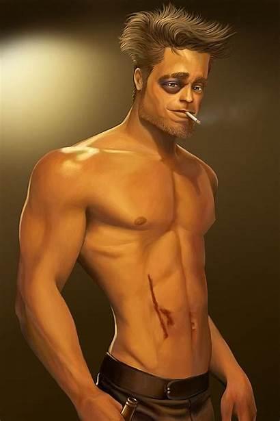 Fight Tyler Durden Caricature Brad Pitt Without
