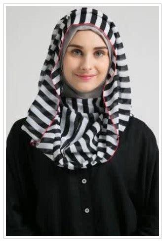 contoh gambar hijab modern  wajah persegi