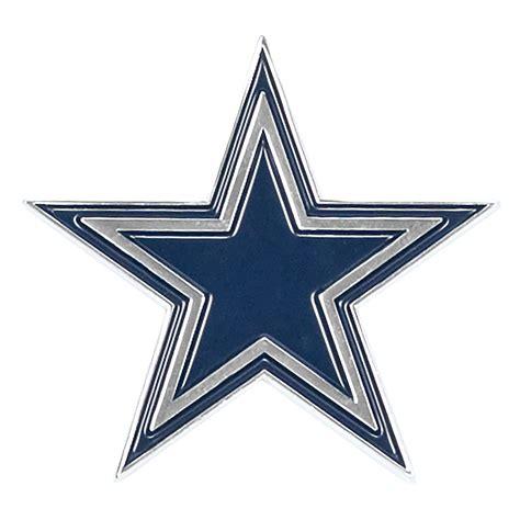 Jr studio sheet of 24: Dallas Cowboys Chrome Metal Star Emblem   Dallas Cowboys Pro Shop