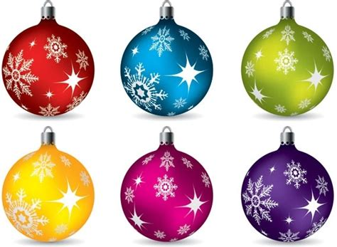 Vector Colorful Christmas Balls Hanging Free Vector In