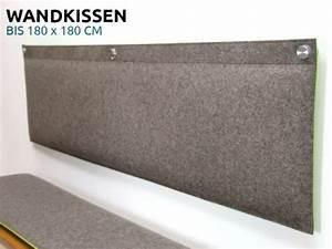 Kissen Rückenlehne Wand : wohnen wandkissen gepolstert aus filz nach ma senbefestigung wendekissen ~ Eleganceandgraceweddings.com Haus und Dekorationen