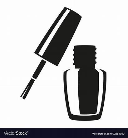 Nail Polish Silhouette Clip Manicure Open