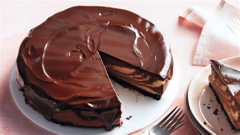 chocolate peanut butter cheesecake  chocolate glaze
